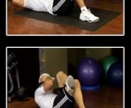 Cross Crunch : Oblique Exercises ( Side Abs )