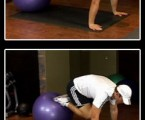Stability Ball Knee Tuck : Lower Ab Exercises
