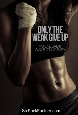 """Gym Exercise Motivation and Images : """" Only the Weak Give Up. No one ..."""