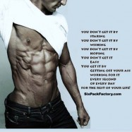 6 Pack Abs Motivational Quote