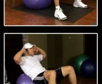 Stability Ball Crunch : Upper Ab Exercises