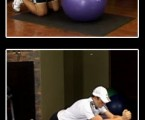 Stability Ball Roll Out : Upper Abs Exercises