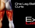 One Leg Ball Curl : Hamstring Exercises