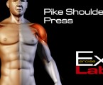 Pike Shoulder Press : Shoulder Exercises