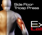 Side Floor Tricep Press : Tricep Exercises