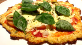 The Best Tasting Healthy Pizza Recipe Ever - Cauliflower Base Pizza